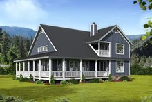 Home Plan - Country Exterior - Rear Elevation Plan #932-33