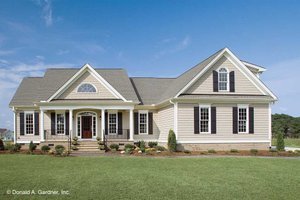 Country Exterior - Front Elevation Plan #929-11