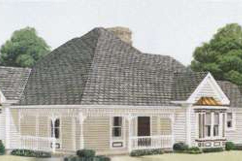 Victorian Exterior - Front Elevation Plan #410-244