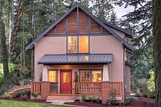 Craftsman Exterior - Front Elevation Plan #461-69