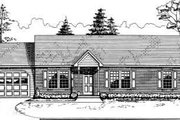 Ranch Style House Plan - 3 Beds 2 Baths 1260 Sq/Ft Plan #30-118 Exterior - Front Elevation