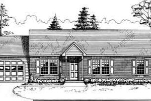 Ranch Exterior - Front Elevation Plan #30-118