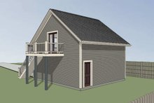 Southern Exterior - Rear Elevation Plan #79-252