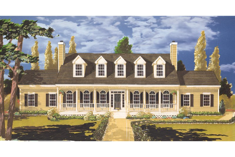 Country Exterior - Front Elevation Plan #3-313