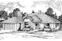 Ranch Exterior - Front Elevation Plan #124-288