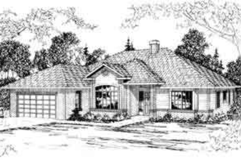 Ranch Exterior - Front Elevation Plan #124-288 - Houseplans.com