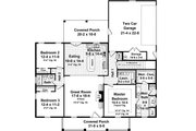 Country Style House Plan - 3 Beds 2 Baths 1653 Sq/Ft Plan #21-365