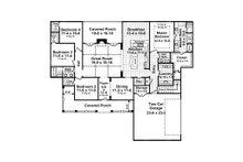 Colonial Floor Plan - Main Floor Plan Plan #21-376