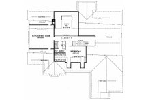 Southern Floor Plan - Upper Floor Plan Plan #137-205