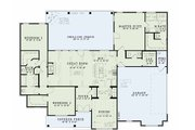 Traditional Style House Plan - 3 Beds 2.5 Baths 1960 Sq/Ft Plan #17-2400 Floor Plan - Main Floor Plan