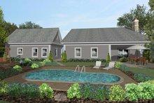 House Plan Design - Craftsman Exterior - Rear Elevation Plan #56-705
