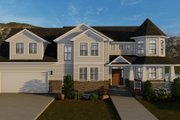Victorian Style House Plan - 4 Beds 3 Baths 2898 Sq/Ft Plan #1060-51 Exterior - Front Elevation
