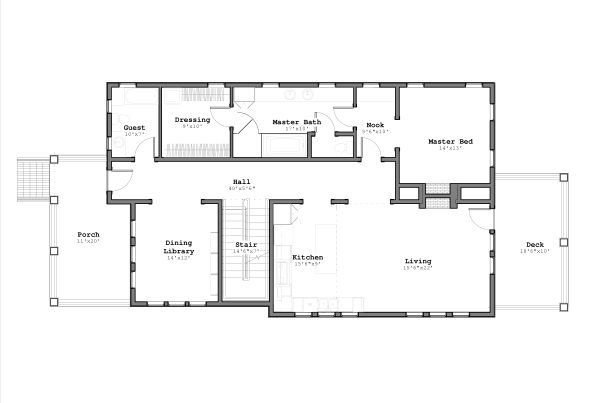 Craftsman Floor Plan - Main Floor Plan #926-3