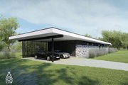 Modern Style House Plan - 3 Beds 2 Baths 1495 Sq/Ft Plan #552-7 Exterior - Other Elevation