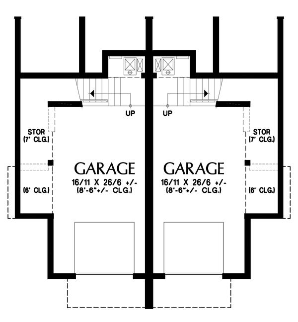 Dream House Plan - Contemporary Floor Plan - Lower Floor Plan #48-1021
