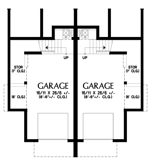 Contemporary Floor Plan - Lower Floor Plan #48-1021