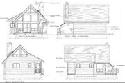 Cabin Style House Plan - 1 Beds 1 Baths 680 Sq/Ft Plan #47-429 Exterior - Rear Elevation