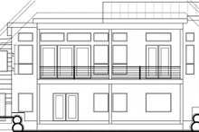 Architectural House Design - Modern Exterior - Rear Elevation Plan #1073-8