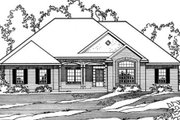 Traditional Style House Plan - 4 Beds 3 Baths 2916 Sq/Ft Plan #31-134 Exterior - Front Elevation