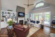 European Style House Plan - 4 Beds 3 Baths 2485 Sq/Ft Plan #929-25 Interior - Family Room