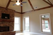 European Style House Plan - 3 Beds 2 Baths 2842 Sq/Ft Plan #437-62 Interior - Family Room