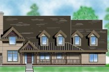 Country Exterior - Front Elevation Plan #5-194