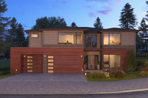 Contemporary Exterior - Front Elevation Plan #1066-56