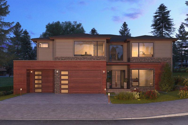 House Plan Design - Contemporary Exterior - Front Elevation Plan #1066-56