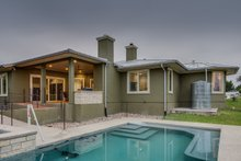 Dream House Plan - Prairie Exterior - Rear Elevation Plan #935-13