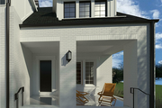 Modern Style House Plan - 3 Beds 3.5 Baths 2990 Sq/Ft Plan #926-6 Exterior - Covered Porch