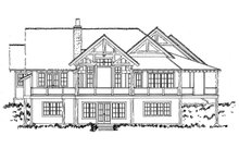 Log Exterior - Rear Elevation Plan #942-43