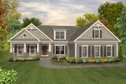 Traditional Style House Plan - 3 Beds 2 Baths 1800 Sq/Ft Plan #56-635 Exterior - Front Elevation