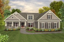 Home Plan - Craftsman, Country, Front Elevation