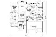 European Style House Plan - 3 Beds 2 Baths 2500 Sq/Ft Plan #20-2198 Floor Plan - Main Floor Plan