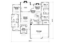 European Floor Plan - Main Floor Plan Plan #20-2198