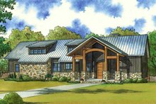 Farmhouse Exterior - Front Elevation Plan #923-63