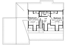 Farmhouse Floor Plan - Upper Floor Plan Plan #46-886