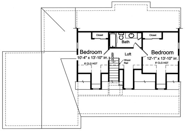Farmhouse Floor Plan - Upper Floor Plan #46-886