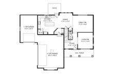Traditional Floor Plan - Main Floor Plan Plan #920-100