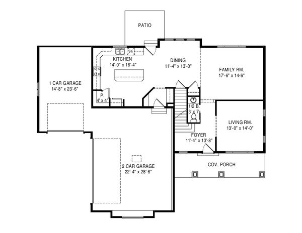 House Plan Design - Traditional Floor Plan - Main Floor Plan #920-100