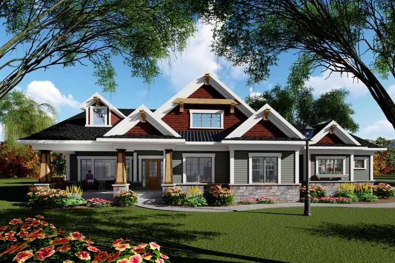Home Plan - Ranch Exterior - Front Elevation Plan #70-1418