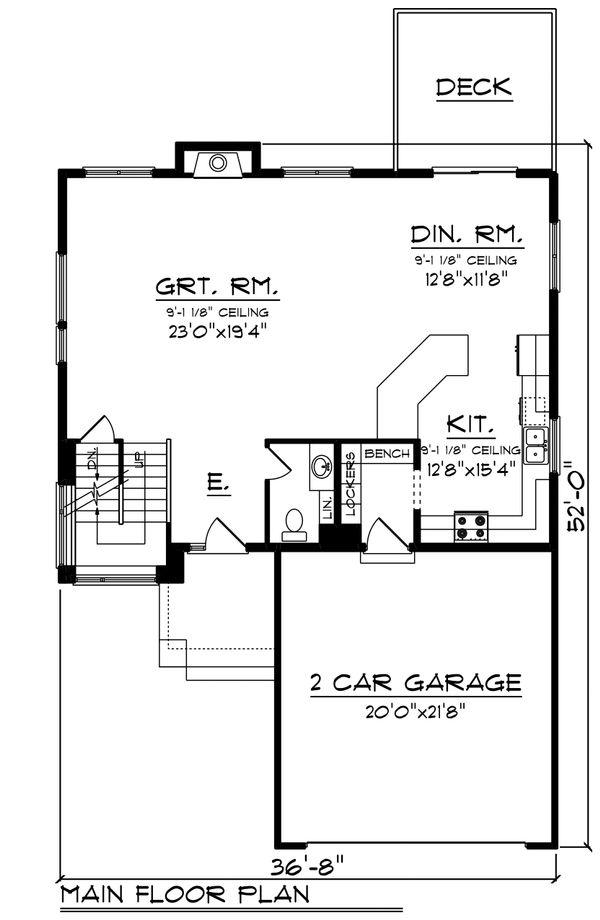 Modern Floor Plan - Main Floor Plan Plan #70-1465