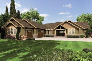 Craftsman Exterior - Front Elevation Plan #48-602