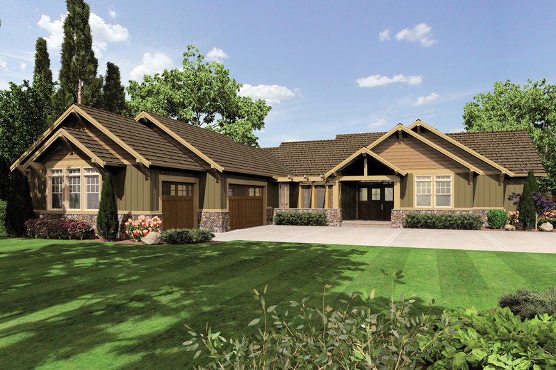 Craftsman Exterior - Front Elevation Plan #48-602