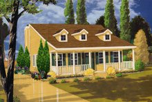 Country Exterior - Front Elevation Plan #3-324