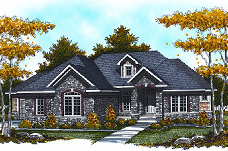 European Exterior - Front Elevation Plan #70-881