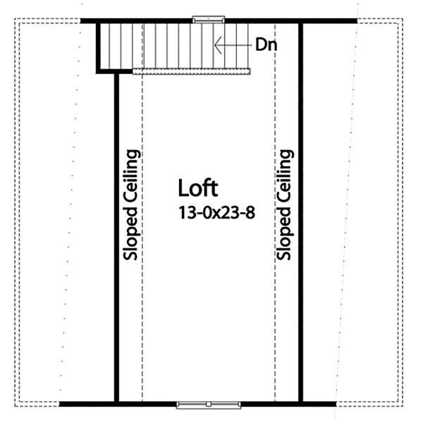 Country Floor Plan - Upper Floor Plan Plan #22-577