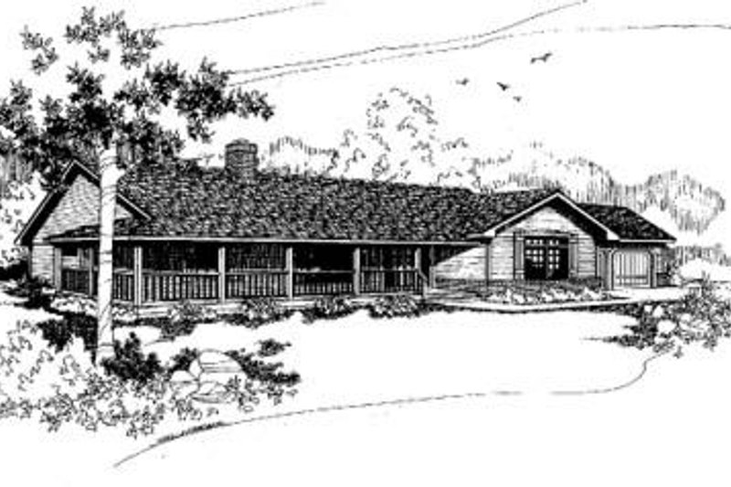 Home Plan Design - Ranch Exterior - Front Elevation Plan #60-323