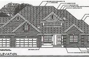 Craftsman Style House Plan - 4 Beds 3 Baths 2485 Sq/Ft Plan #124-418 Exterior - Other Elevation