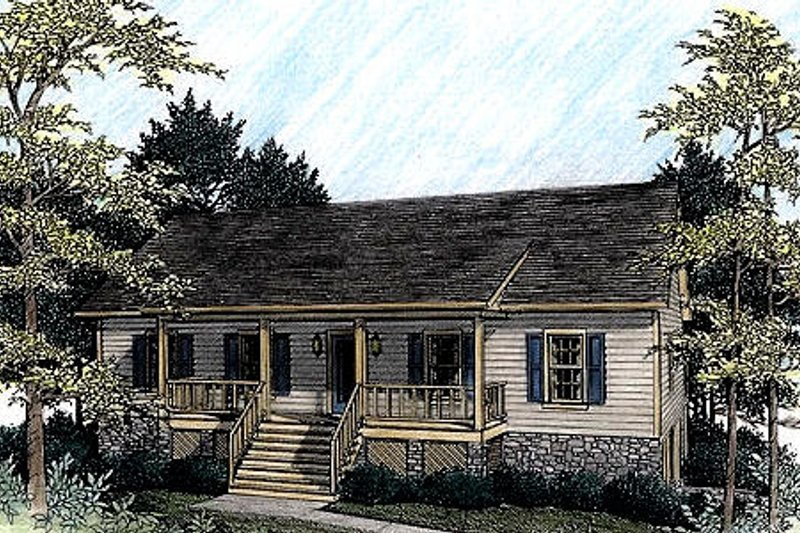 Dream House Plan - Country Exterior - Front Elevation Plan #56-139